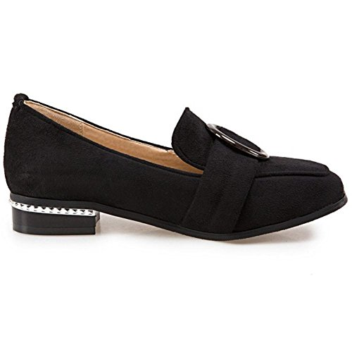 Shoes 6244 TAOFFEN Slip Spring Flat Black Women's On 7SwfqWXS