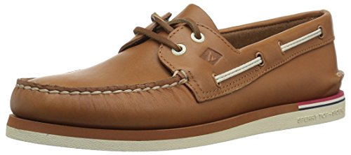 Sperry Top-Sider Men's a/O 2-Eye Nautical Boat Shoe, Tan, 9.5 M US Brown Leather Boat