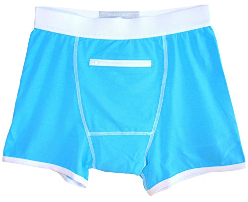 Speakeasy Briefs, Men's Stash Underwear with a Secret Front Pocket, Medium, Blue by Speakeasy Briefs