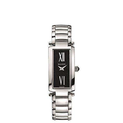 Balmain Women's Elegance Silver-Tone Metal Bracelet Steel Case Quartz Black Dial Analog Watch (Silver Tone Metal Bracelet)