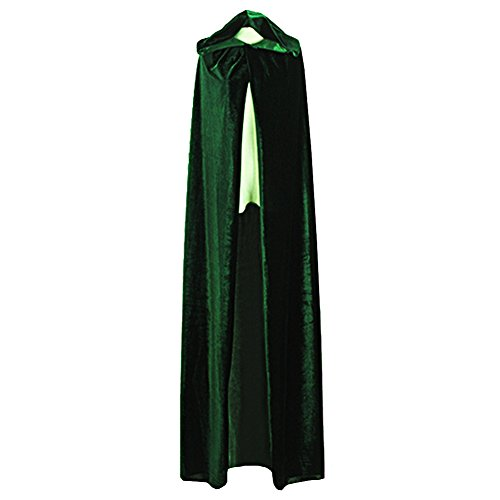 Halloween Cosplay Costume Hooded Cloak Cosplay Robe Cloak Witch Magic Wizard Fancy Party (Witches Cloak)
