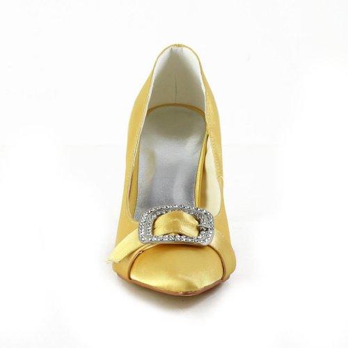 Jia Jia Wedding A3114 Hochzeitsschuhe Brautschuhe Damen Pumps Gold