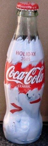 2005 Holiday Edition Christmas Cola Polar Bears Commemorative Coca Cola Full Unopened Bottle 8 Oz (Plastic Imprinted Wrap Around Bottle) (Coca Cola Christmas Soda compare prices)