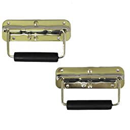 New Pair of Chrome Speaker Cabinet Spring Flip Metal Handles HF2
