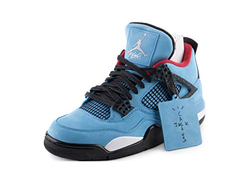 newest 9c00e 9c541 Nike Mens Air Jordan 4 Retro Cactus Jack University Blue Black Suede Size  10.5