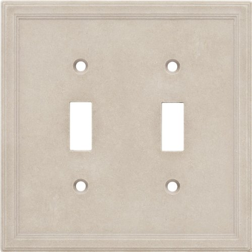 Cast Stone Switchplate - Double Toggle Cast Stone Wall Plate - Sand