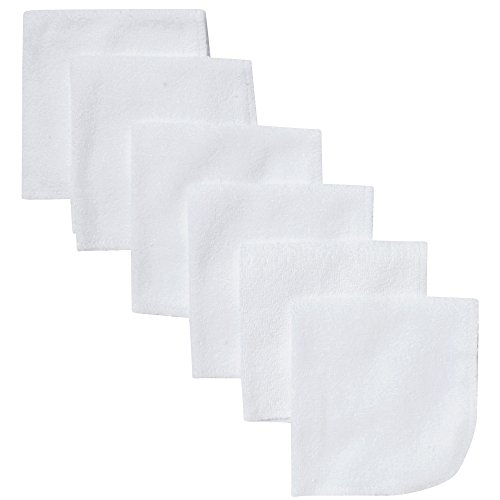 Gerber 6 Count Washcloth, (White Washcloth)