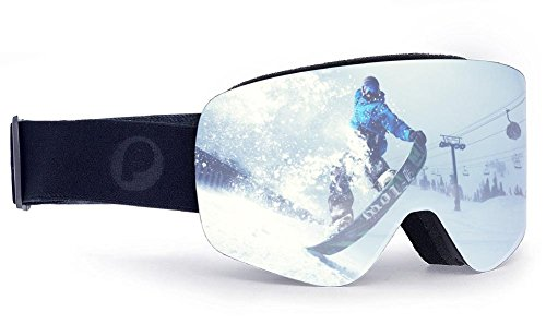 Picador Frameless Ski Goggles With Anti-fog UV400 Protection Cylindrical Lens For Women And Men - Rimless Goggles