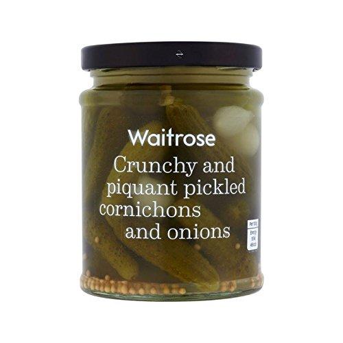 Onions & Cornichon Waitrose 285g - Pack of 6