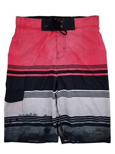 Boys Pink, Black & Gray Cargo Surf Shorts Swim Trunks Board Shorts XL18/20 ()