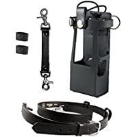 Boston Leather Bundle Three Items- Anti-Sway Strap for Radio Strap, Firefighters Radio Strap / Belt, Firefighters Radio Holder (for Motorola APX 6000XE/8000)