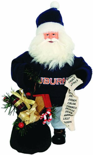 Santa's Workshop AUT034 Auburn Gift Bearer Santa Figurine, 10'' ,,