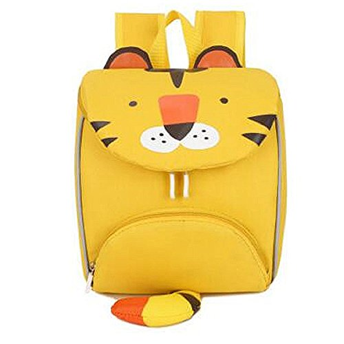 SUNVP 3D Cartoon Kids Backpack,Waterproof Cute Toddler School Bag for Child (Yellow Tiger)