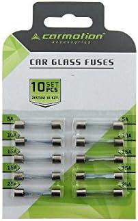 Myshopx Feinsicherungen Sicherungen Kfz Glassicherungen 10 Stück 30mm 2x 5a 2x 10a 4x 15a 2x 25a B3 Auto