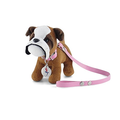 hes 18 Inch Doll Accessories   Adorable Puppy Dog with Pink Leash, Matching Collar and Dog Tag   Fits 18