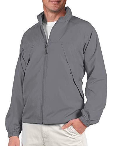 SCOTTeVEST Mens Pack Windbreaker Jacket - 19 Pockets - Spring Jackets for Men (GRA XL) Graphite