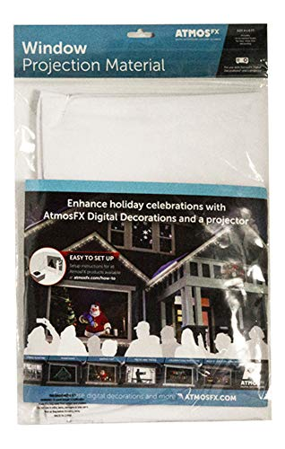 (AtmosFX Window Projection Material, 6 Foot by 4 Foot Fabric Screen for Holiday Decorating on Halloween, Christmas, Birthdays, and More)