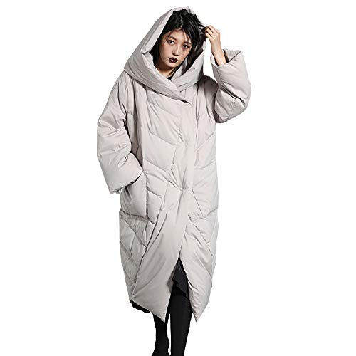 CNMUDONSI Winter Coats for Women Plus Size Long with Hood Prime (Z8A1Gray-XXL)