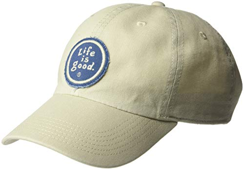 Life is Good Vintage Chill Cap Baseball Hat,Bone,One Size