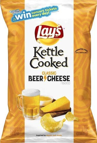 Rare Beer - NEW Lay's Kettle Cooked Beer Cheese Potato Chips - 8oz (1)