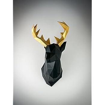 Papertrophy deer black & gold