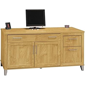 Amazon Com Sauder Palladia Credenza Select Cherry Finish
