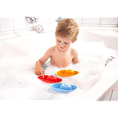 HABA Stacking Boat Set - 3 Piece Play Set Great for Scooping and Funelling Water in the Bath or Pool: Toys & Games