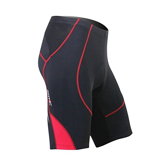 Santic Cycling Men's Shorts Biking Bicycle Bike Pants Half Pants 4D Coolmax Padded Red L