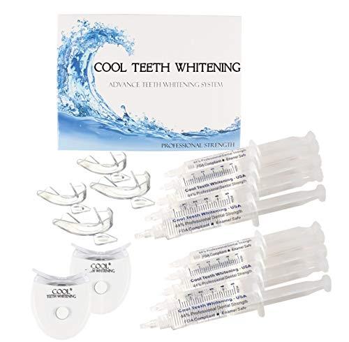 Cool Teeth Whitening Kit Fast Acting Carbamide Peroxide Gel, White, Mint
