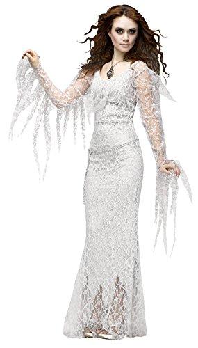 (Fun World Women's Ghostly Lady Costume, Grey)