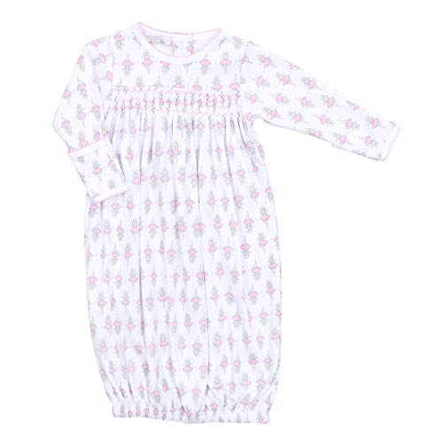 (Magnolia Baby Baby Girl Vintage Sugar Plum Fairy Smocked Gathered Gown Pink Small)