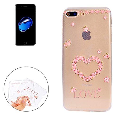 GR Bunter blauer Blumen-Muster-weicher TPU schützender Abdeckungs-Fall für iPhone 7 Plus ( SKU : Ip7p5010f )