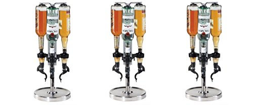 Oggi Professional 3-Bottle Revolving Liquor Dispenser (Pack of 3)