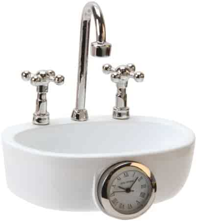 Miniature Sink Wash Basin Novelty Quartz Movement Collectors Clock 9602