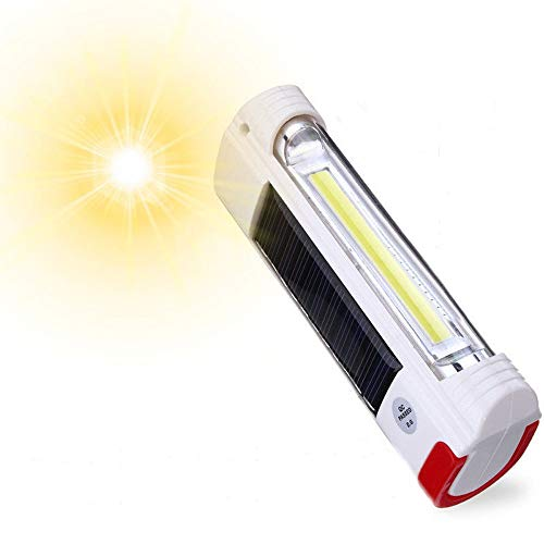 GXOK Solar Power USB Rechargeable LED Flashlight Camping Hiking Light Lantern [Ship from USA Directly]