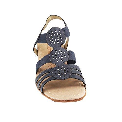 Ladies Casual Combination R5251 Sandals Remonte Blue qqrC76x
