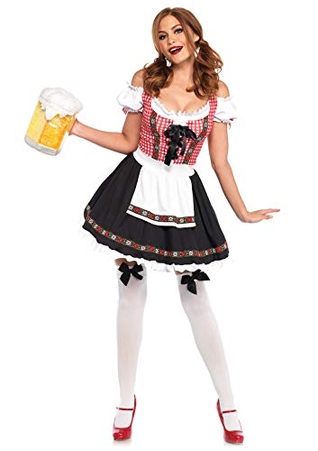 Leg Avenue Beer Girl Costume (Leg Avenue Women's Costume, Multi,)