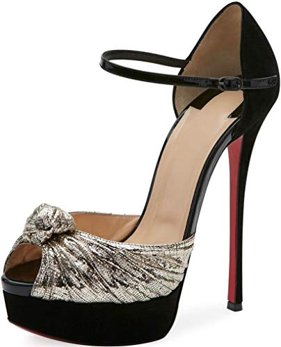 Christian Louboutin Pump Shoes - Christian Louboutin Marchavekel 160mm Lame $1040 Authentic Pumps Size 41 New