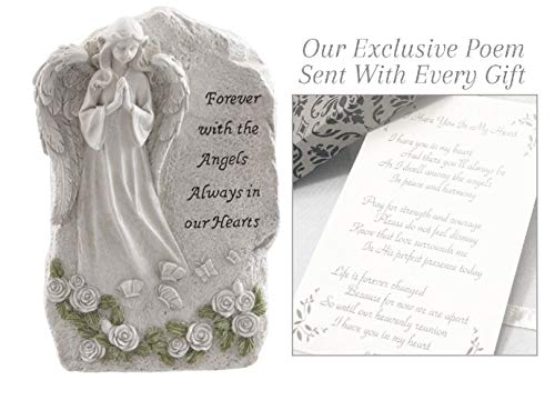 Forever with The Angels Statue to Express Sympathy for Funeral Or Memorial Comfort The Grieving for Loss of A Loved One (Best Funeral Flower Arrangements)