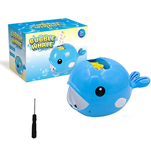 Bubble Machine,ForTomorrow Automatic Bubble Machine for Kids with 2000+ Bubble Maker Per Minute-Birthday and Automatic Bubble Blower Christmas Party Gifts for Children-Outdoor and Indoor (Blue Whale)