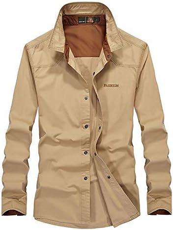 IYFBXl Camisa de Hombre Que Sale - Collar de Camisa de Color Block, Khaki, XXL: Amazon.es: Deportes y aire libre