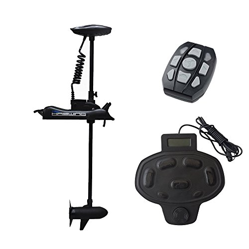 Haswing Cayman 24v 80lbs Bow Mount Electric Trolling Motor Black 48