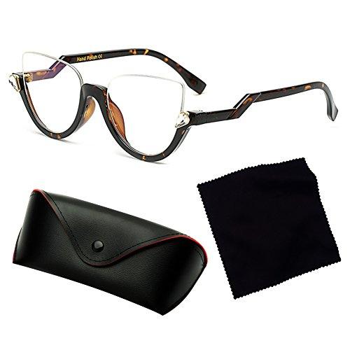 C8 UV400 soleil Vintage de trame de femmes soleil juqilu lunettes Lens Lunettes demi Cat Eyewear 1AqZ60Z