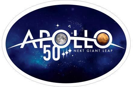 Oval Logo Decal - Apollo 11 Moon Landing Anniversary Car Bumper Stickers NASA Space Center Official Apollo 50th Anniversary Logo Two Car Decorations