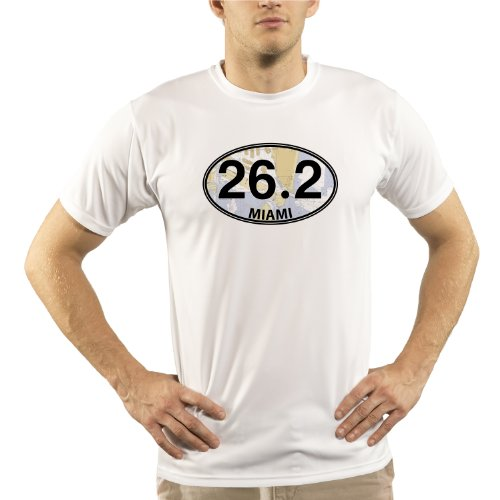 Split Time Men's Miami 26.2 UPF Short Sleeve Running T-Shirt X-Large - Shop Triathlon Miami