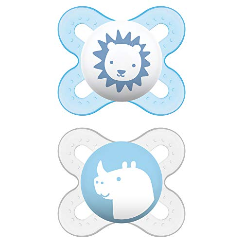 MAM Pacifiers, Newborn Pacifier, Best Pacifier for Breastfed Babies, 'Start' Design Collection, Boy, 2-Count from MAM