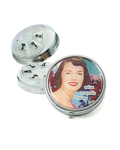 Anne Taintor Pill Box Compact - Time for my next dose of serenity