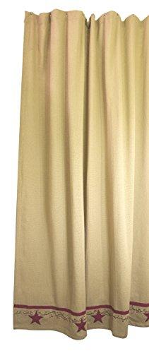 (Primitive Star Vine Cotton Burlap Country Shower Curtain)