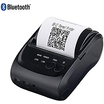 Amazon.com: Bluetooth Mobile Thermal Receipt Printer, MUNBYN ...