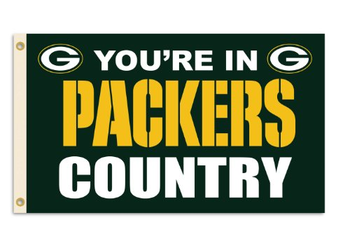 (NFL Green Bay Packers 3-by-5 Foot In Country Flag)